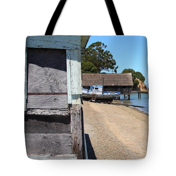 China Camp In Marin Ca - Vertical Tote Bag by Wingsdomain Art and Photography