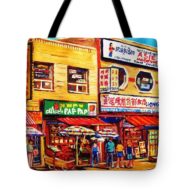 Chinatown Markets Tote Bag by Carole Spandau