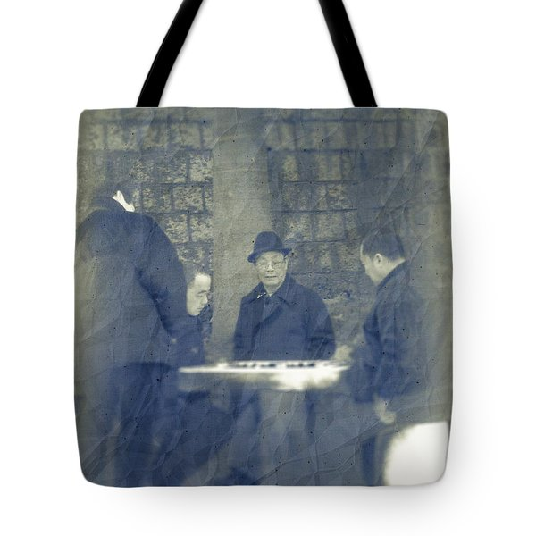 Chinese Chess Players Tote Bag by Loriental Photography