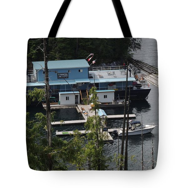 Chinootka Lodge Close-up Tote Bag by Nootka Sound