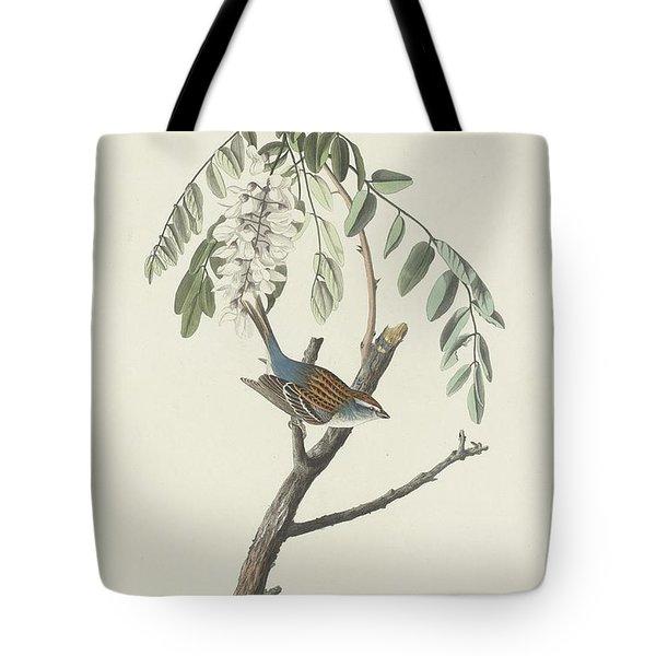 Chipping Sparrow Tote Bag by John James Audubon