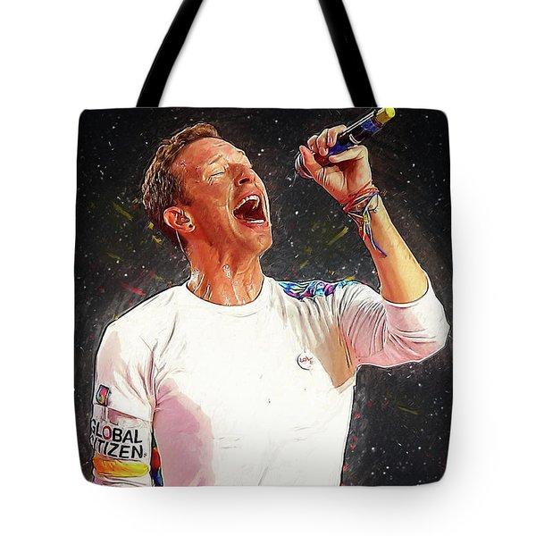 Chris Martin - Coldplay Tote Bag by Semih Yurdabak