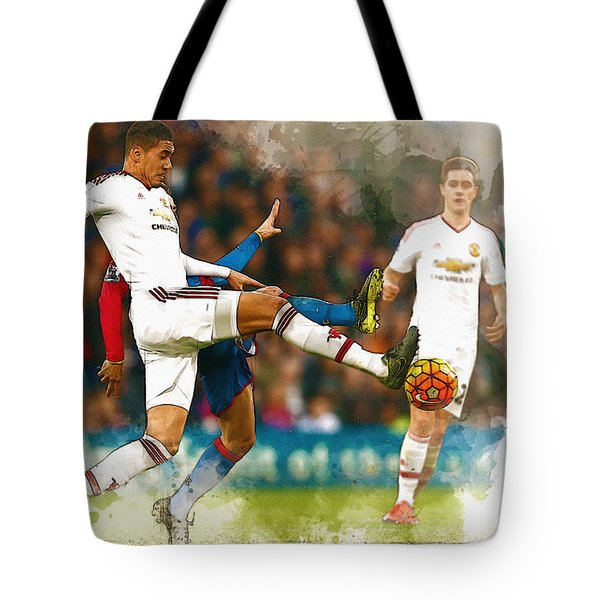 Chris Smalling  In Action  Tote Bag by Don Kuing