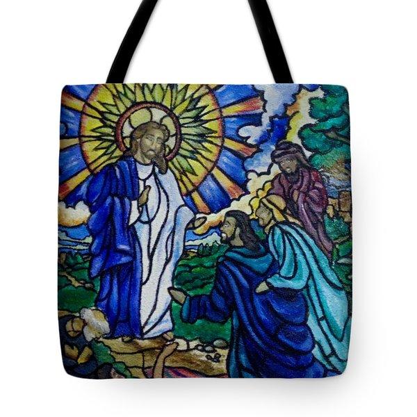 Christ Healing Blind Bartimaeus Tote Bag by Antoinette QUEENNETTATITI Allen
