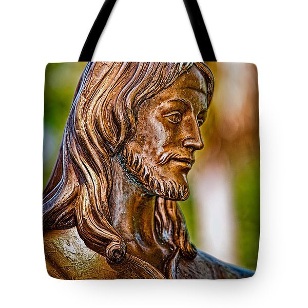 Christ in Bronze Tote Bag by Christopher Holmes