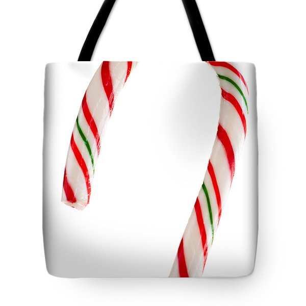 Christmas Candy Cane Tote Bag by Elena Elisseeva