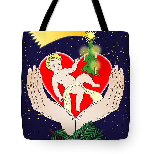 Christmas Eve- Nativity Tote Bag by Michal Boubin