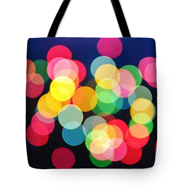 Christmas lights abstract Tote Bag by Elena Elisseeva