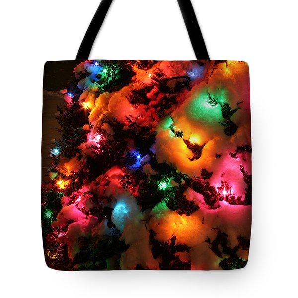 Christmas Lights Coldplay Tote Bag by Wayne Moran