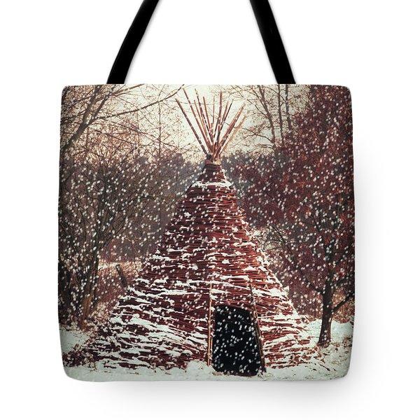 Christmas Tent Tote Bag by Wim Lanclus