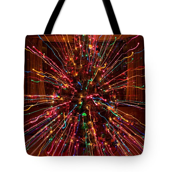 Christmas Tree Colorful Abstract Tote Bag by James BO  Insogna
