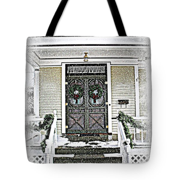 Christmas Wreathes  Tote Bag by Julie Hamilton