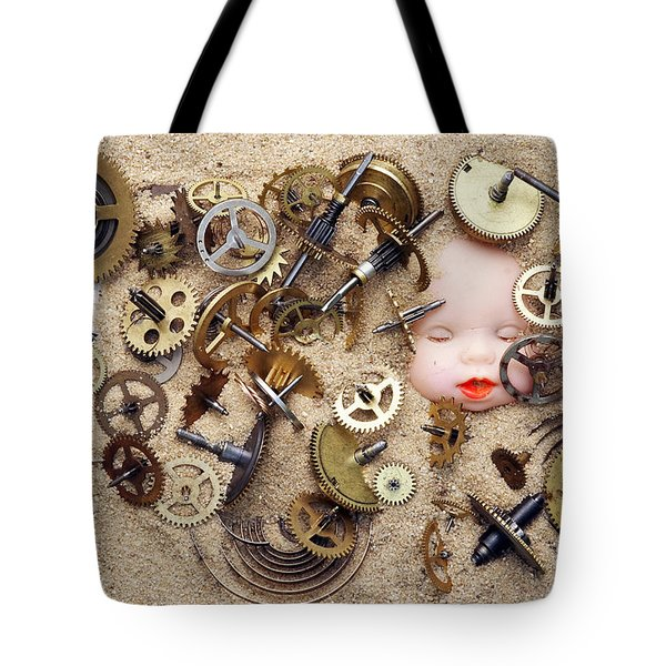 Chronos - God of Time Tote Bag by Michal Boubin