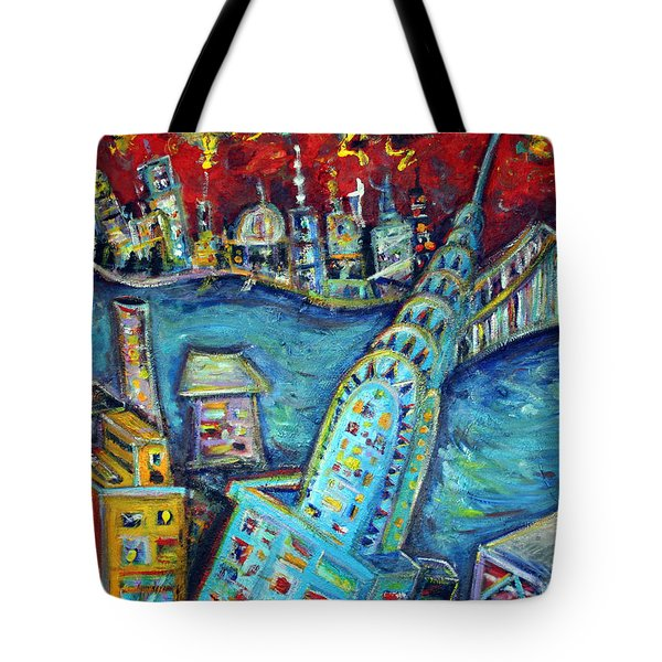 Chrysler Building Tote Bag by Jason Gluskin