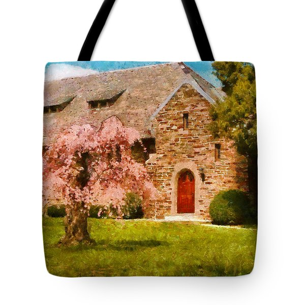 Church - Heaven Created Tote Bag by Mike Savad