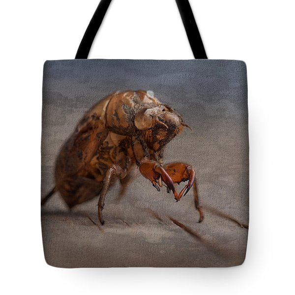 Cicada Shell Tote Bag by Tom Mc Nemar