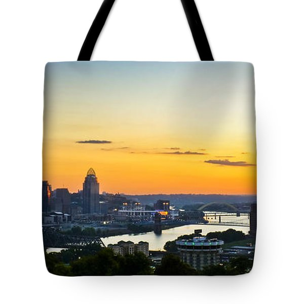 Cincinnati Sunrise II Tote Bag by Keith Allen