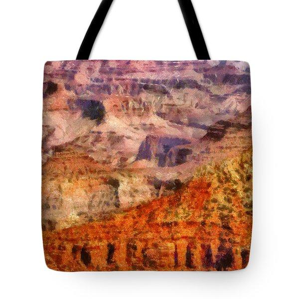 City - Arizona - Grand Canyon - Kabob Trail Tote Bag by Mike Savad