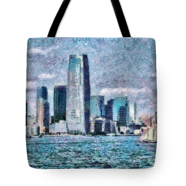 City - Ny - City Of The Future Tote Bag by Mike Savad