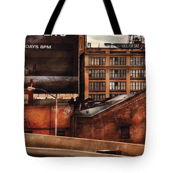 City - Ny - New York History Tote Bag by Mike Savad