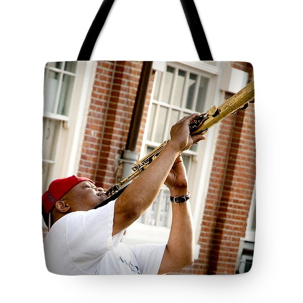 City Jazz Tote Bag by Greg Fortier