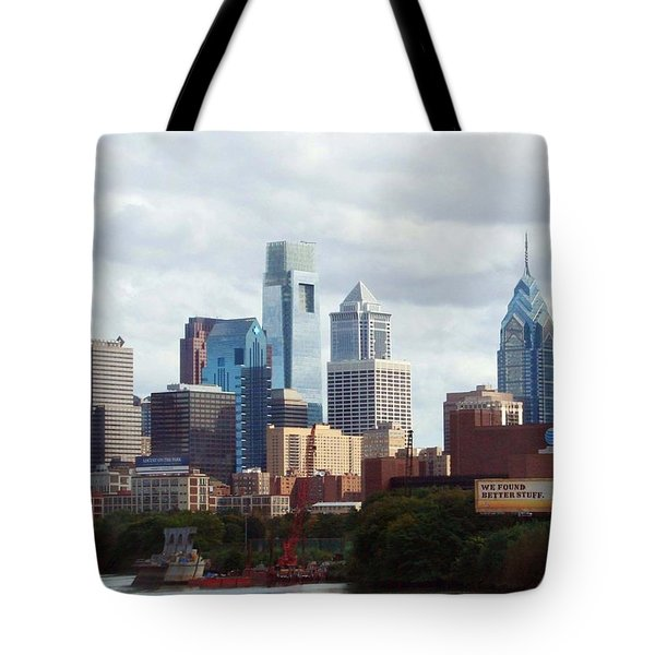 City of Philadelphia Tote Bag by Linda Sannuti