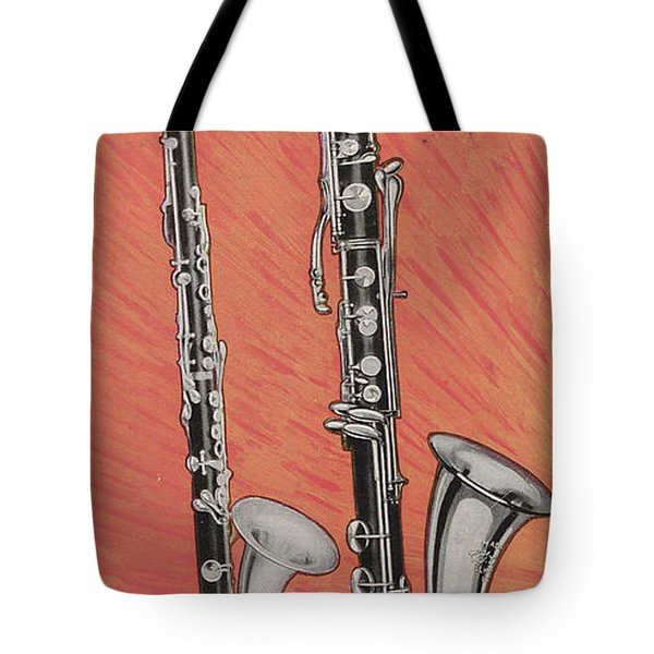Clarinet And Giant Boehm Bass Tote Bag by American School