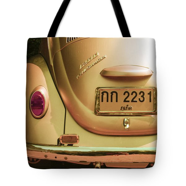 Classic Vw Beetle In Thailand Tote Bag by Georgia Fowler