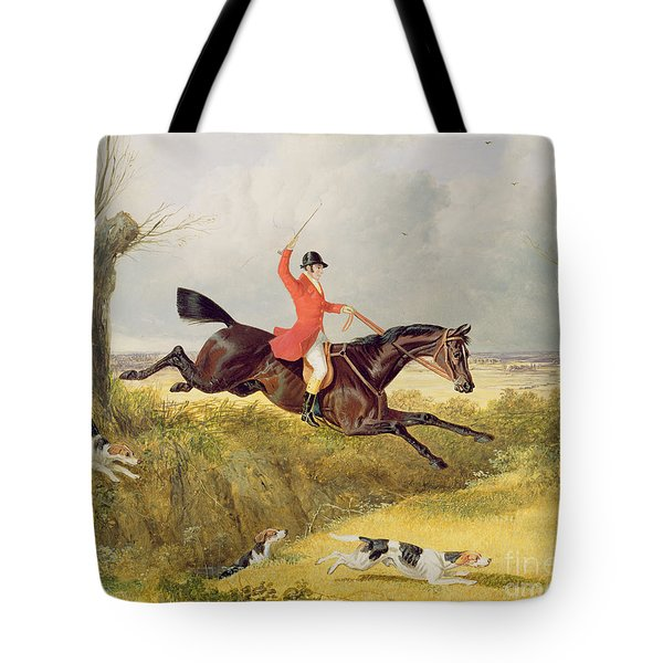 Clearing A Ditch Tote Bag by John Frederick Herring Snr