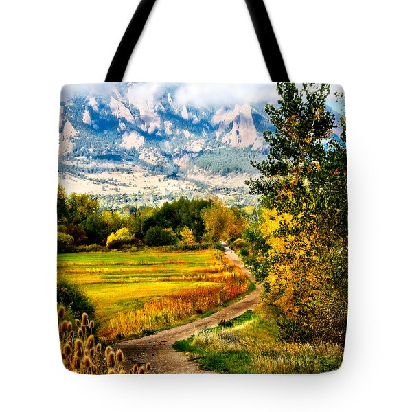 Clearly Colorado Tote Bag by Marilyn Hunt