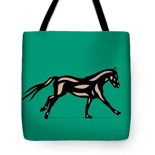 Clementine - Pop Art Horse - Black, Hazelnut, Emerald Tote Bag by Manuel Sueess