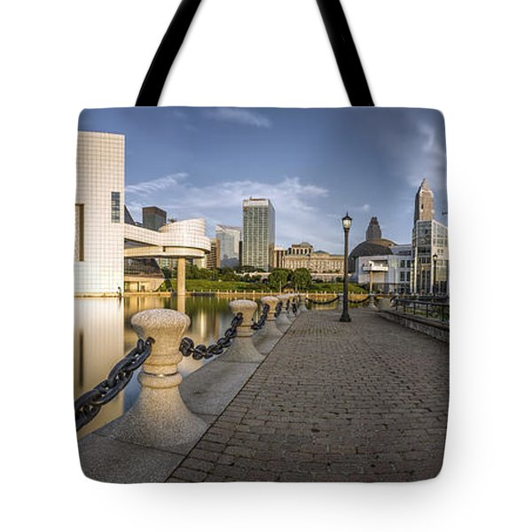 Cleveland Panorama Tote Bag by James Dean