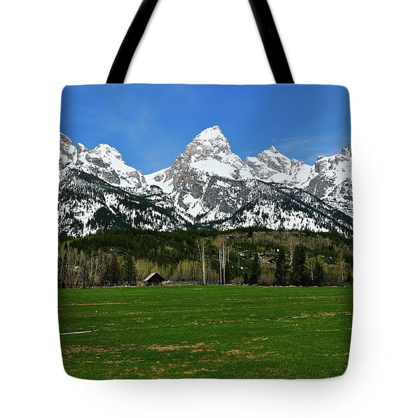 Climbers Ranch In Spring Tote Bag by Greg Norrell