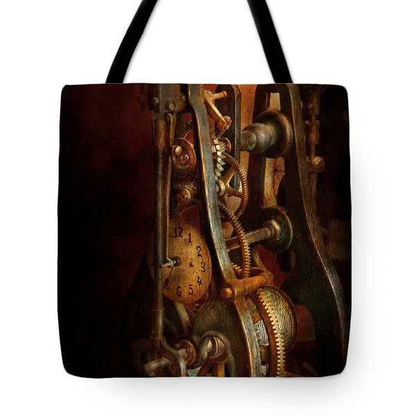 Clockmaker - Careful I bite Tote Bag by Mike Savad