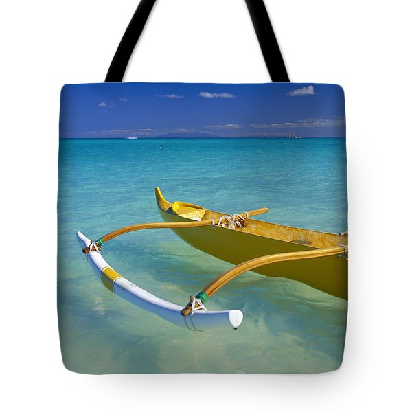 Close-Up Yellow Canoe Tote Bag by Dana Edmunds - Printscapes