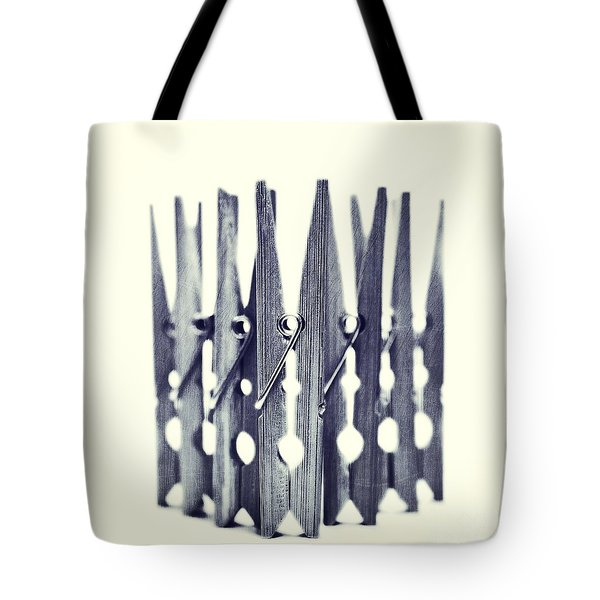 clothespin Tote Bag by Priska Wettstein