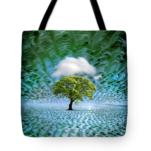 Cloud Cover Recurring Tote Bag by Mal Bray