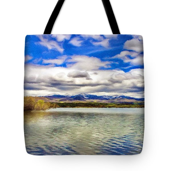 Clouds over Distant Mountains Tote Bag by Jeff Kolker