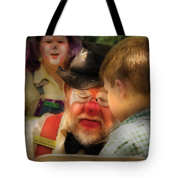Clown - Face Painting Tote Bag by Mike Savad