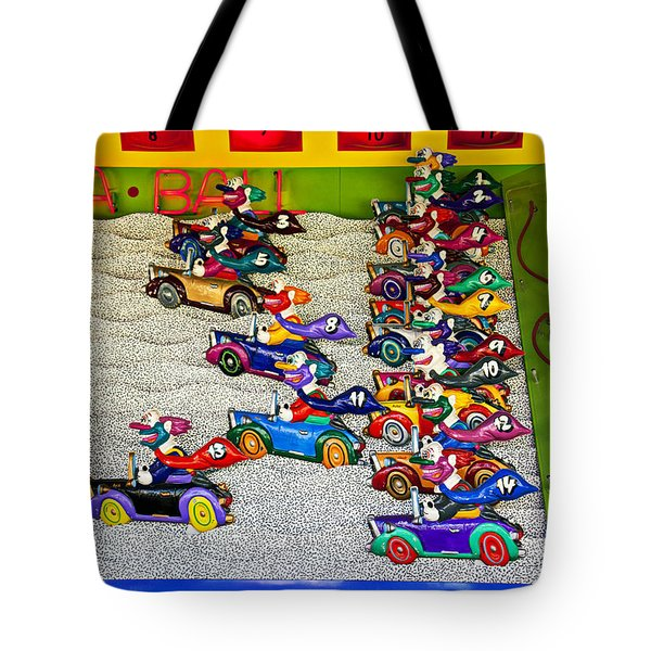 Clown car racing game Tote Bag by Garry Gay