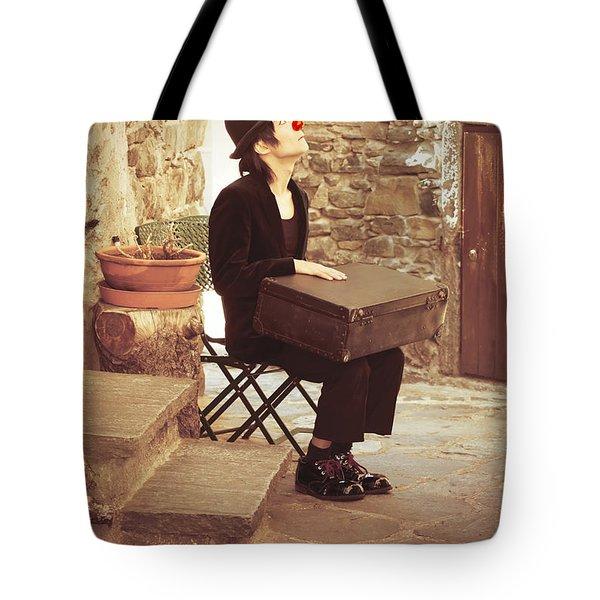 Clown Tote Bag by Joana Kruse