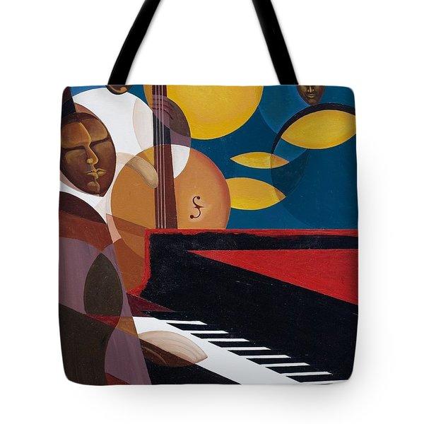 Cobalt Jazz Tote Bag by Kaaria Mucherera