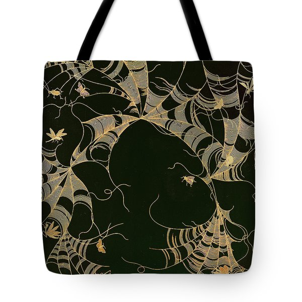 Cobwebs And Insects Tote Bag by Japanese School