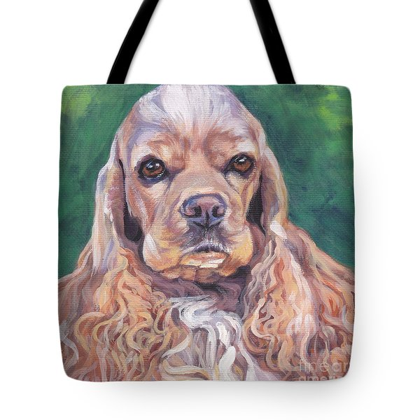 Cocker spaniel Tote Bag by Lee Ann Shepard