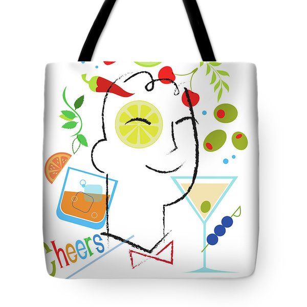 Cocktail Time Tote Bag by Lisa Henderling