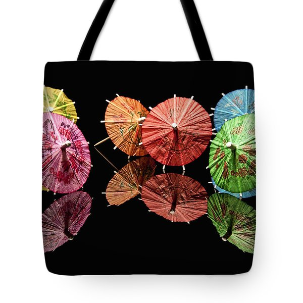Cocktail Umbrellas II Tote Bag by Tom Mc Nemar