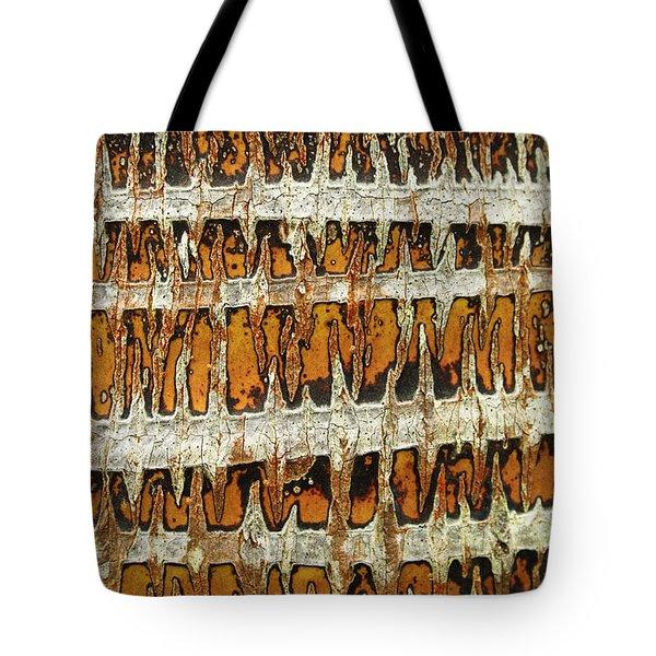 Coconut Palm Bark 3 Tote Bag by Brandon Tabiolo - Printscapes