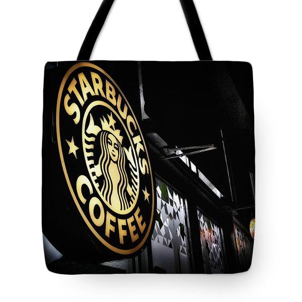 Coffee Break Tote Bag by Spencer McDonald