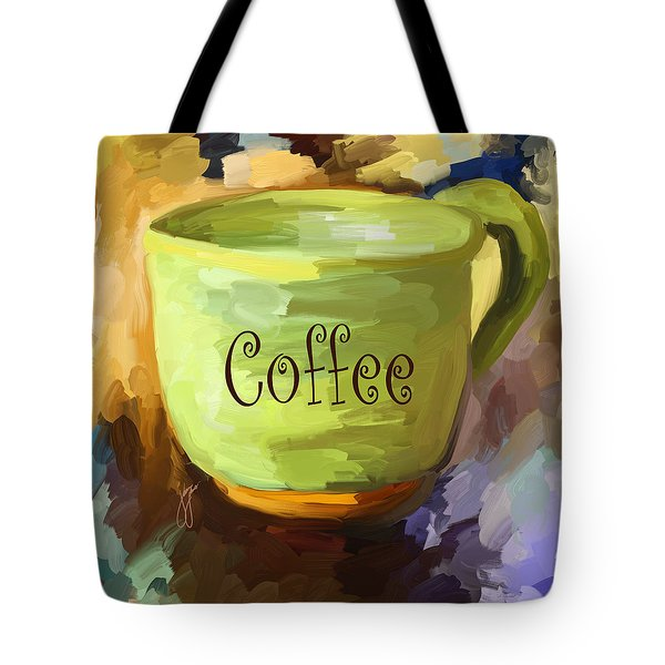 Coffee Cup Tote Bag by Jai Johnson