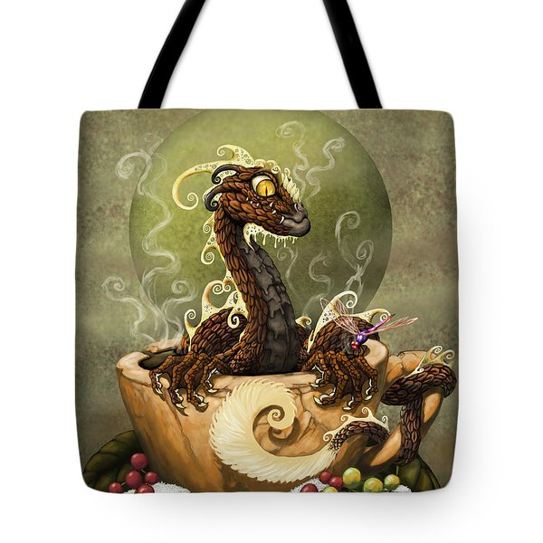 Coffee Dragon Tote Bag by Stanley Morrison